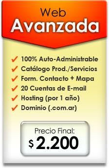 Diseño de Página Web Avanzada | Precio $ 2.200 pesos argentinos
