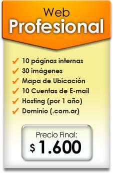 Diseño de Sitio web Profesional | Precio $ 1.500 pesos argentinos